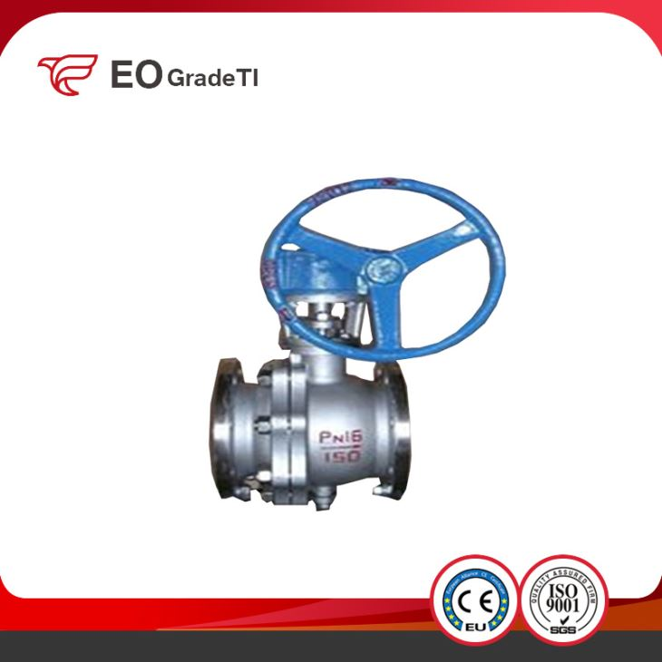 ANSI Electric Actuator Titanium Ball Valve for Industrial Use