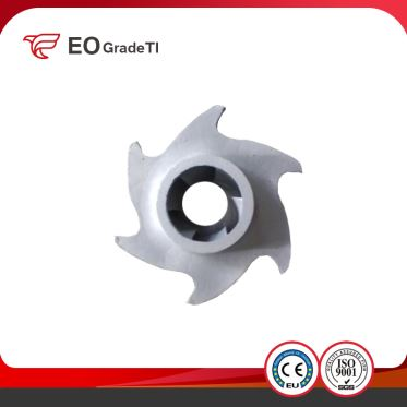 ASTM B367 Customized Small Tolerance Water Pump Titanium Impeller
