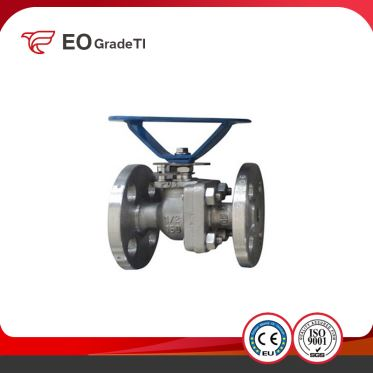 Cast Iron CK20 F310 2PC Double Flange Floating Titanium Alloy Ball Valve
