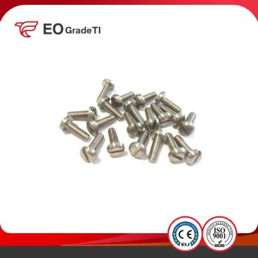 DIN EN ISO 1580 GB/T 67-2000 Titanium Slotted Pan Head Screws