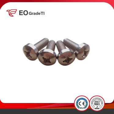 Gr1 Gr2 Gr5(Ti6al4v) Gr7 Gr9 Titanium Cross Recesed Pan Head Bolts