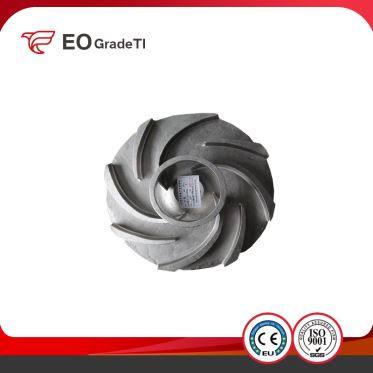 Precision Casting Pure Titanium CNC Machining Impeller